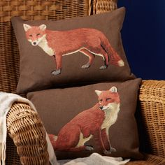Decorative Fox Pillow Asst 2 Designs © Two's Company