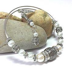 Silver Bracelet  Adjustable Bracelet  by TheaDesignConcepts