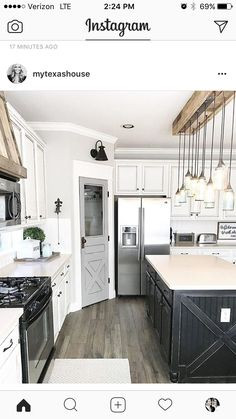 Looking for for inspiration for farmhouse interior? Check this out for amazing farmhouse interior images. This amazing farmhouse interior ideas will look totally wonderful. Farmhouse Kitchen Cabinets, Modern Farmhouse Kitchens, Kitchen Redo, New Kitchen, Home Kitchens, Rustic Farmhouse, Rustic Kitchen, Farmhouse Ideas, Kitchen Modern