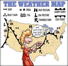 http://www.weather.com/weather/map/interactive/ Most weather reports feature art graphics. In this picture, the style/graphics becomes the information.