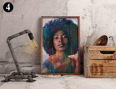 African-American Woman Vector Beauty Woman, African Art, Canvas decoration for living room, Housewarming Gift, Black Woman Art Poster Decorations, Comic Poster, Nature Illustration, Photo Wall Art, Black Women Art, African American Women, Minimalist Art, Map Art, African Art