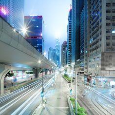 Light Streaks, city shutter drag