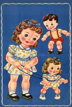 Paper Dolly Fun with Nancy and her Babies
