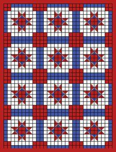 Good idea for a pieced quilt, Happy Yellow House.com - Desert Star ... : crochet quilt block patterns - Adamdwight.com