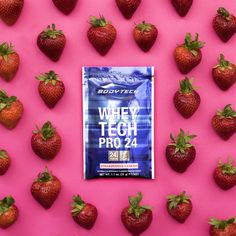 Strawberry season is in full swing!  Drink your protein in our great Whey Tech Pro 24 Strawberries and Cream flavor!