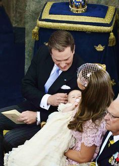 The Swedish royal family joins in the christening of HRH Princess Leonore daughter of Princess Madeleine and Chris O' Neill June 8, 2014