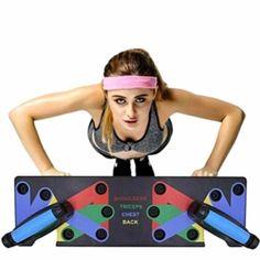 ✔ Push Up è un innovativo sistema di allenamento con scheda push-up a colori che rinforza e modella l'intera parte superiore del corpo (petto, spalle, schiena e braccia, racchiudendo l'intero nucleo., ✔ Questo impegnativo programma di forza e condizionamento della durata di 10 settimane combina… Altri prodotti simili su Amazon.it HIHEY Junierain 9 in 1 […] Questa offerta HIHEY Junierain 9 in 1 Push Up Rack Board System Fitness Workout Training Gym Esercizio Rack per Home  Bar Workout, Gym Workouts, At Home Workouts, Push Up Muscles, Push Up Handles, Strength And Conditioning Workouts, Muscle Fitness, Fitness Sport, Plyometrics