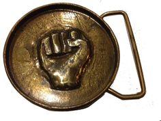 Belt Buckle - Black Power Fist