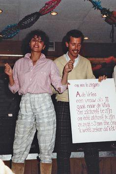 Afscheid Adri de Vries - zomer 1984 Linda Ubachs en Paul Bonnike