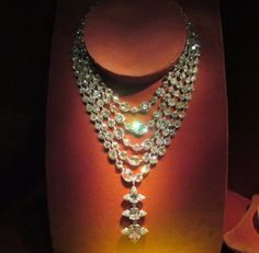 Five-Row Diamond Necklace with Pendant Ring, 1999; diamonds, platinum; private collection. Photo credit- Anthony DeMarco