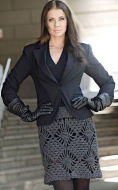 Grey crocheted skirt