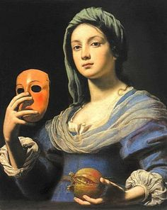 """Allegory of Dissimulation"" also called ""Gardener with a Mask""  1642 by Lorenzo Lippi (1606-1665)"