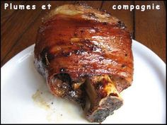 Baked caramelized pork shank - Feathers and company - specialites alsacienne - Meat Recipes Cheap Meals, Easy Meals, Asian Snacks, Health Dinner, My Best Recipe, Pork Recipes, No Cook Meals, Healthy Dinner Recipes, Coco