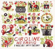 Caroline Herring : Alice Pattullo Illustration. Love the 3 colors. For altoids tin project?
