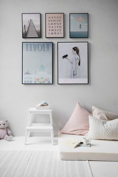 UP your interior game with two hues you NEED - pink and grey! LOVE.