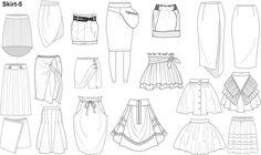 Risultati immagini per wgsn technical sketches