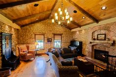 The gathering room (originally built in 1858) at Copperstone Inn in Rockton, IL