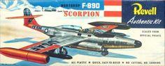 Northrop F-89D Scorpion H-221-89 Vintage Revell Model.