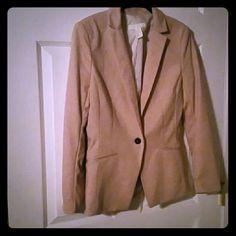 H&M Blazer H&M beige/pink blazer. Women's size 8. Barely worn, too small for me. H&M Jackets & Coats Blazers