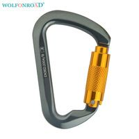 WOLFONROAD 30KN Main Locks Rock Climbing D-shaped Carabiner for Use With Pulleys Triact-Lock System Belays Devices L-ASQJ-05