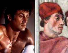 Sylvester Stallone has been found in a 1511 painting by Raphael