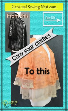 Copy your clothes is a fairly easy task.  Step by step tutorial on how to copy a garment without taking it apart.