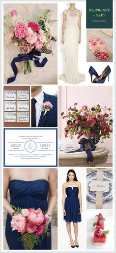 Navy + Raspberry Wedding Inspiration