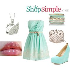 Loving this mint #outfit from #ShopSimple?  Get the dress now(US$58.00)--> http://shopsimple.com/u6RVJr Get the wedges now(US$24.00)--> http://shopsimple.com/z2qMVf