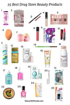 25 Best Drugstore Beauty Products: 25 of my favorite cheap, yet great performing beauty products that are budget-friendly!