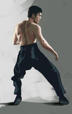 """cool Bruce art Bruce Lee APP """"The MAN"""" is only designed for Desktop &…"""