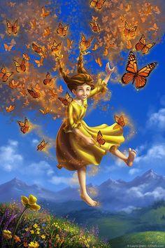Butterfly Magic Print Fantasy Fine Art Nursery