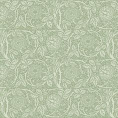 William Morris fabric: Loeb Green Roses on Spoonflower.com