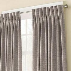 parisian pleat drapes - clean rod and ring for bedroom. simple