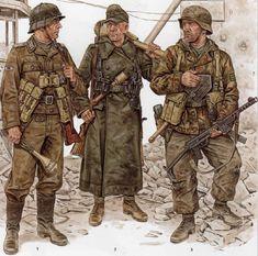 Osprey German WW2 Uniforms illustrations by Wolfenkrieger on deviantART