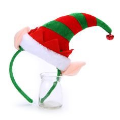 Happy New Year Merry Christmas Lovely Christmas Elf Hat Bell Headband Hairband for Women & Girls Hair Accessories Jewelry