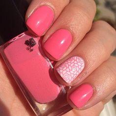Pink Rose Mani