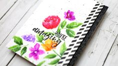 card making video tutorial:  Stamped Watercolor Flowers (Zig Clean Color Real Brush Markers Series #2) ... by Kristina Werner ... lots of useful  tips  and products ...