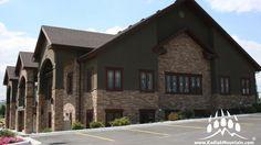 The Rocky Mountain Series by Kodiak Mountain Stone Thin Brick Veneer, Manufactured Stone, Salt Lake City, Rocky Mountains, Cabin, Mansions, House Styles, Utah, Home Decor
