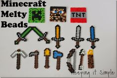Minecraft Kids Craft Idea: Melty Beads Tools #minecraft #kidscraft #boys #keepingitsimplecrafts