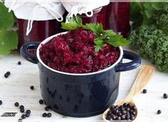 Buraczki do kotleta Dog Food Recipes, Red, Dog Recipes, Rouge