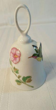 J.S.N.Y. Taiwan White Porcelain Bell With Flower & Hummingbird, 5 1/4   1114   eBay