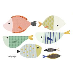 Surface Pattern, Illustration and sketches. Type Illustration, People Illustration, Pattern Illustration, Fish Drawings, Doodle Drawings, Drawing Sketches, Kitchen Art Prints, Paper Cutting Patterns, Rock Painting Patterns