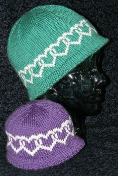 Patricia Beitel's Heart to Heart hat on Ravelry.  I'm a new fair isle fan!