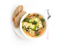 Get Food Network Kitchen's Ravioli and Vegetable Soup Recipe from Food Network