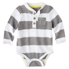 Cherokee® Newborn Infant Boys' Long-Sleeve Bodysuit