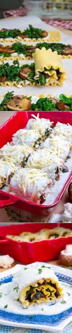 Mushroom Lasagna Roll Ups by Debra Smith KNegj