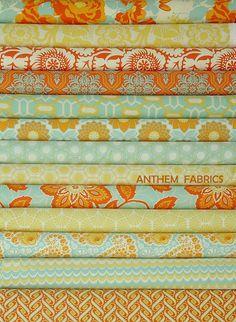 Joel Dewberry Heirloom fabric Fat Quarter set of by anthemfabrics, $34.45