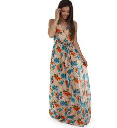 Karlene Natural Floral Entranced Dress