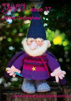 Zeddicus, the wizard gnome Animal Knitting Patterns, Knitting Designs, Crochet Patterns, Knitted Dolls, Crochet Toys, Simply Knitting, Knitting Magazine, Knitting Yarn, Doll Toys