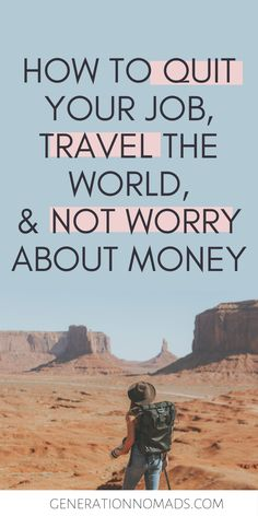 Do you dream about traveling the world? Before you quit your job and go travel, make sure you know how to avoid stressing about money during your trip. We tell you how we have been traveling for the past 1.5 years without touching our savings AND without having to work remotely. Learn the method that will allow you to quit your job and live your dream life without worrying about money! + Avoid returning home broke and jobless :) #career #careeradvice #digitalnomad #passiveincome #makemoneyonline Travel Jobs, Work Travel, Travel Advice, Travel Money, Travel Hacks, Budget Travel, Quito, How To Avoid Stress, Quitting Your Job